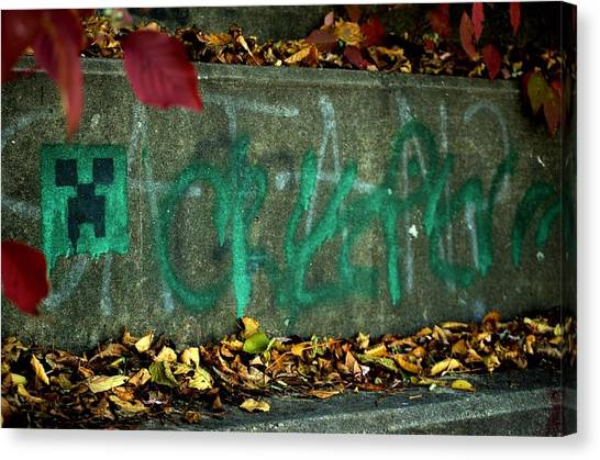 Minecraft Canvas Print - Creeper Graffiti by Jason King