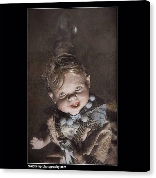 Satan Canvas Print - Creepy?  Nah. #doll #creepy #demon by Craig Kempf