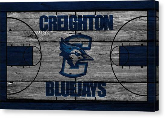 Ball State University Canvas Print - Creighton Bluejays by Joe Hamilton