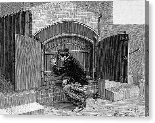 Undertaker Canvas Print - Crematorium Furnace by Bildagentur-online/tschanz