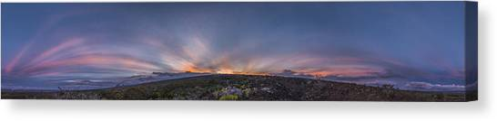 Mauna Loa Canvas Print - Crepuscular Burst  by Sean King