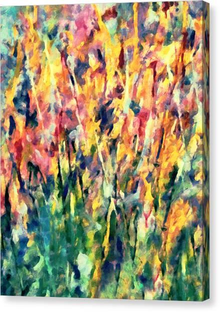 Crescendo Of Spring Abstract Canvas Print