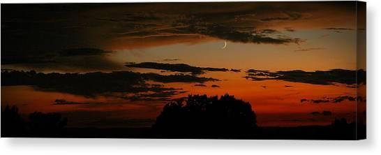 Crescent At Sunset Canvas Print