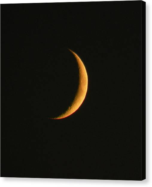 Crescent Moon Canvas Print