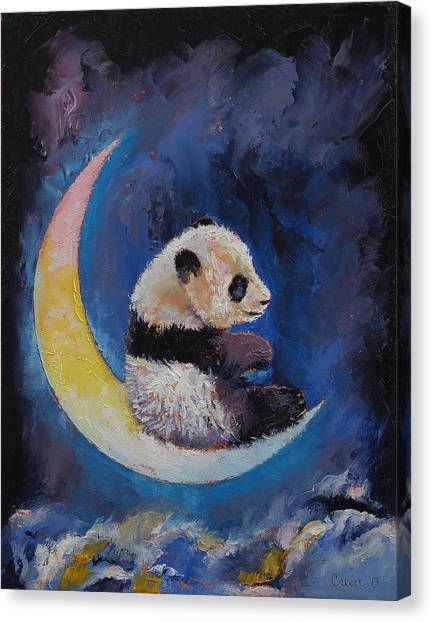 Luna Canvas Print - Crescent Moon by Michael Creese