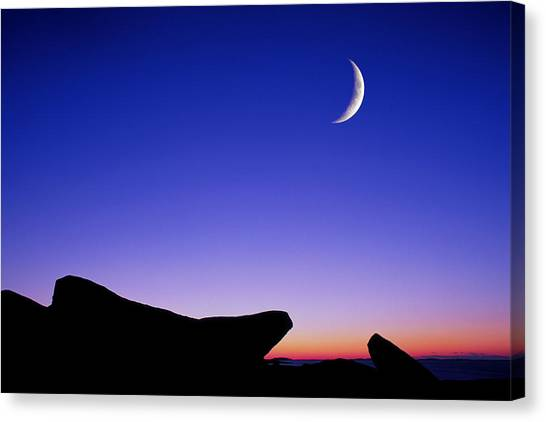 Crescent Moon Halibut Pt. Canvas Print