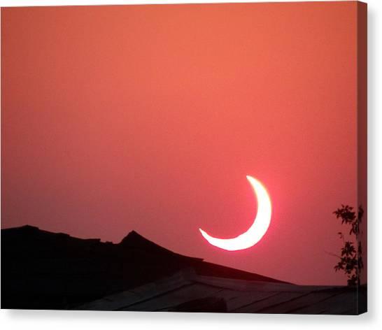 Crescent Sunset Canvas Print