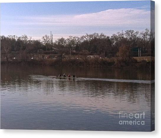 Crew On The Schuylkill - 1 Canvas Print