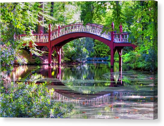 Crim Dell Bridge William And Mary College Canvas Print