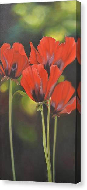 Crimson Petals Canvas Print