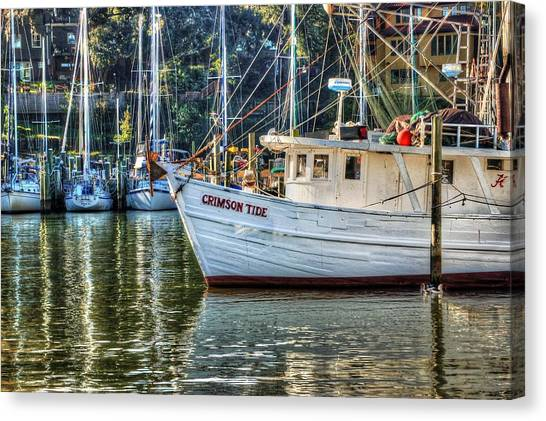 Crimson Tide In The Sunshine Canvas Print