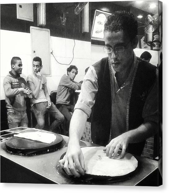 Syrian Canvas Print - #crip #syrian #fast #food #restaurant by Hema Ezzat