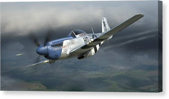 Fighters Canvas Print - Cripes A'mighty 3rd by Robert Perry