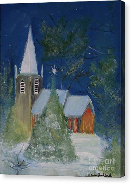 Canvas Print - Crisp Holiday Night by Louise Burkhardt