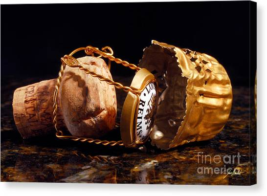 Cognac Canvas Print - Cristal Cork Granite by Jon Neidert