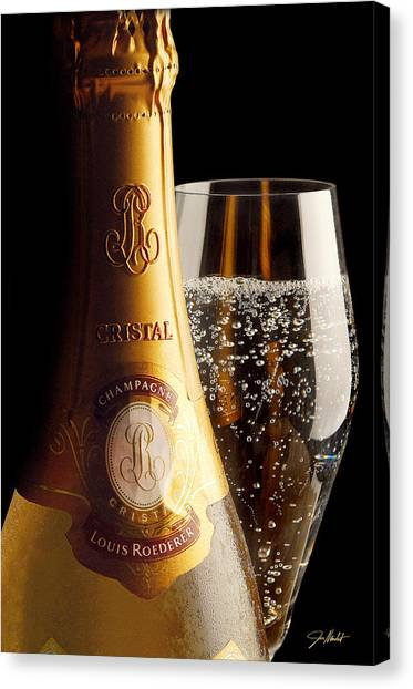 Cognac Canvas Print - Cristal Party by Jon Neidert