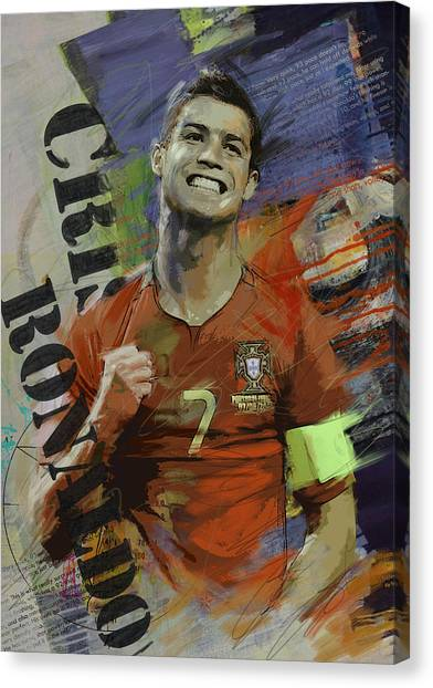 Cristiano Ronaldo Canvas Print - Cristiano Ronaldo - B by Corporate Art Task Force