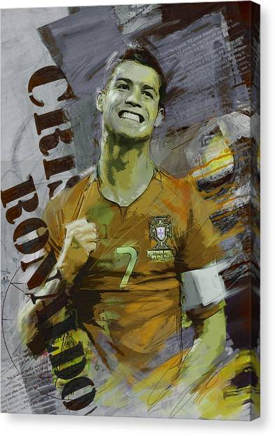 Cristiano Ronaldo Canvas Print - Cristiano Ronaldo by Corporate Art Task Force