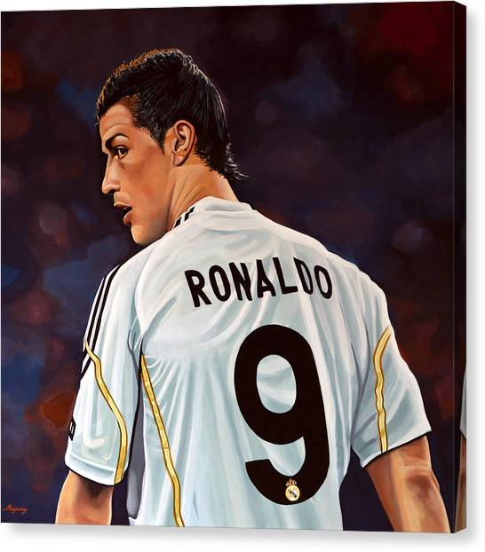Goal Canvas Print - Cristiano Ronaldo by Paul Meijering