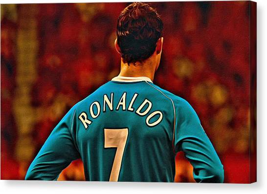 Real Madrid Canvas Print - Cristiano Ronaldo Poster Art by Florian Rodarte