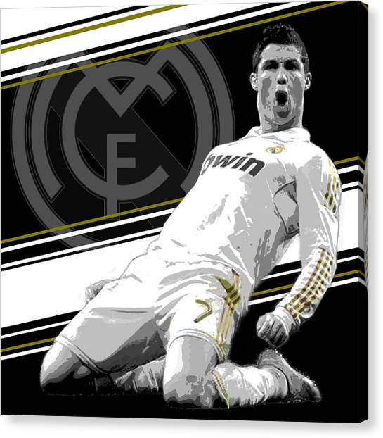 Barcelona Canvas Print - Cristiano Ronaldo Real Madrid Print by Pro Prints