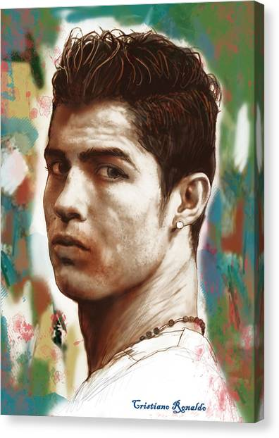 Cristiano Ronaldo Canvas Print - Cristiano Ronaldo Stylised Pop Art Drawing Potrait Poster by Kim Wang