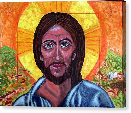 Cristo Pantocrator In Matagalpa Canvas Print