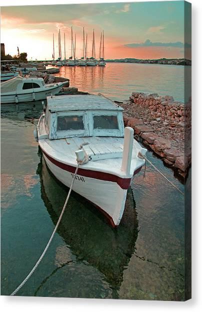 Croatian Marina Canvas Print