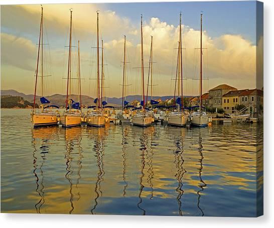 Croatian Sailboats Canvas Print