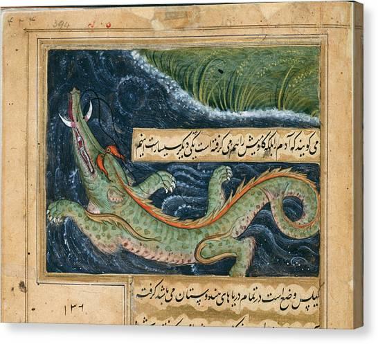 Crocodiles Canvas Print - Crocodile by British Library