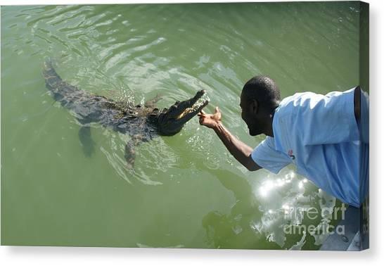 Crocodile Dundee Jamaica Canvas Print by Olaf Christian