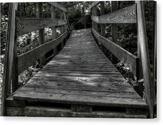 Crooked Bridge Canvas Print