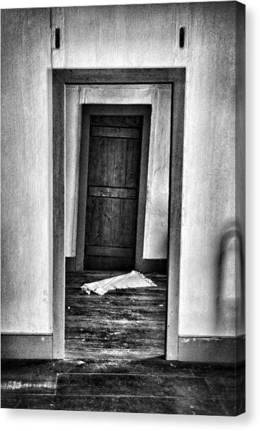 Crooked Door Canvas Print