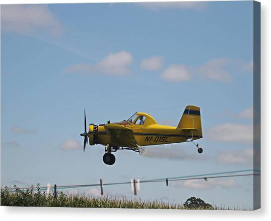 Crop Dusting Canvas Print by Victoria Sheldon