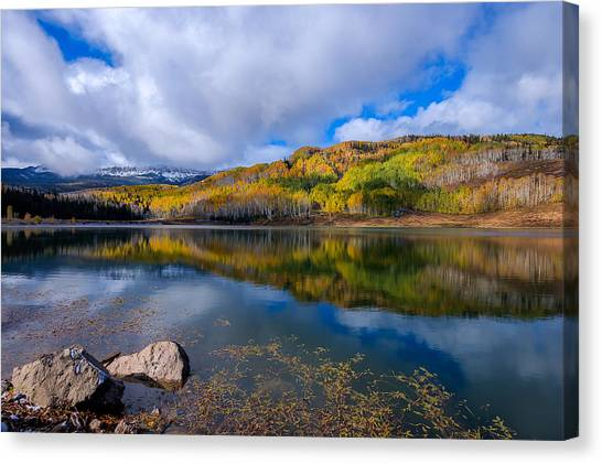 Crosho Lake Reflection Canvas Print