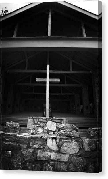 Canvas Print featuring the photograph Cross 2 by Kelly Hazel