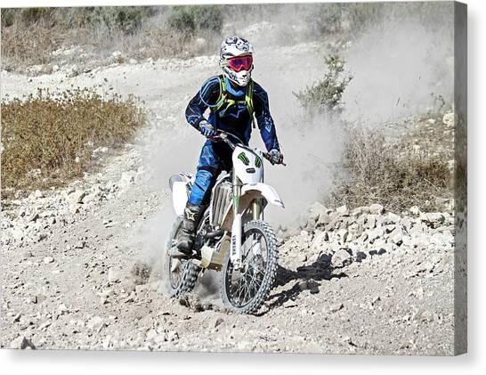 Dirt Bikes Canvas Print - Cross Country Motorbike Race by Photostock-israel