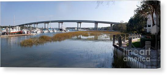 Cross Island Bridge Hilton Head Canvas Print
