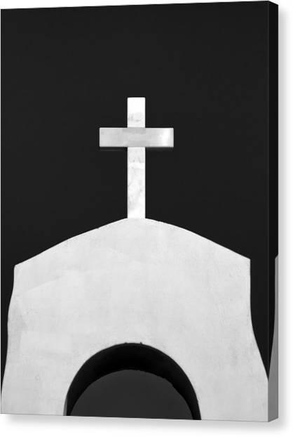 Old Christ Church Canvas Print - Cross by Stelios Kleanthous