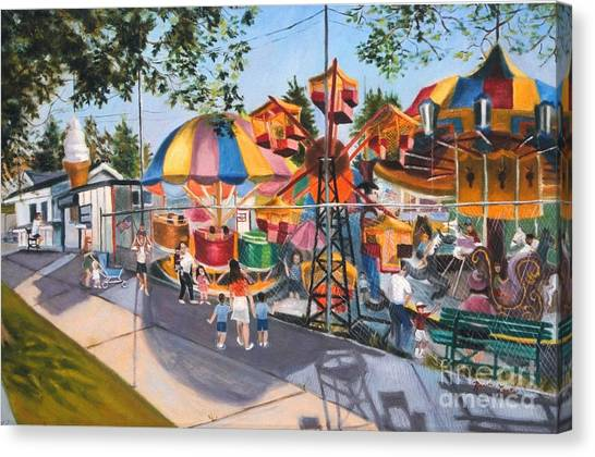 Crossbay Amusement Park Canvas Print