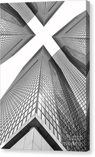 Shapes Canvas Print - Crossed by Az Jackson