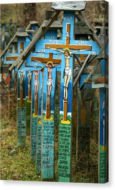 Crosses In An Orthodox Graveyard Canvas Print