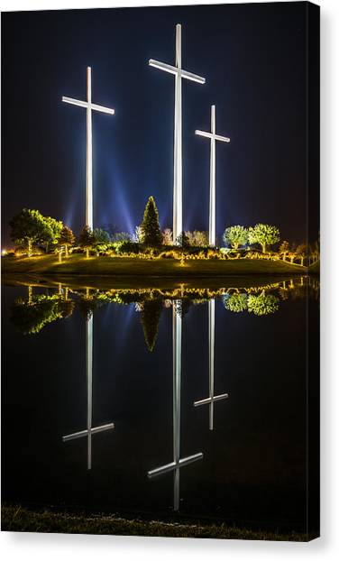 Crosses In Reflection Canvas Print