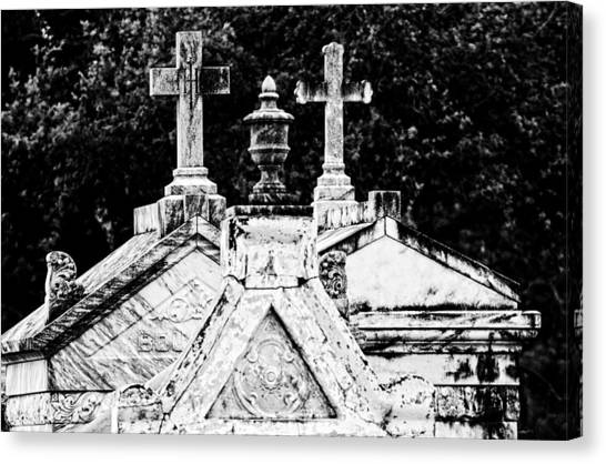 Crosses Of Metairie Cemetery Canvas Print