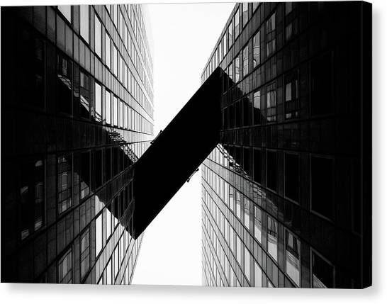 Crossing | La Defense Canvas Print by © Giulio R.c.