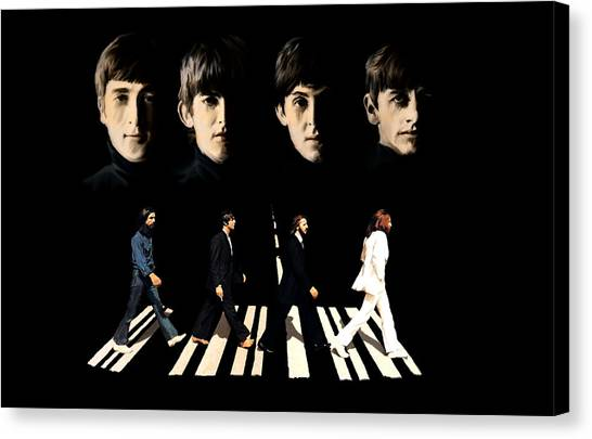 Crossing Into History The Beatles  Canvas Print