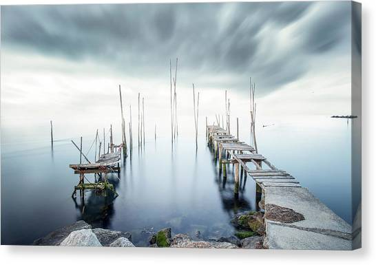 Pier Canvas Print - Crossing Of The Future by Nuno Araujo