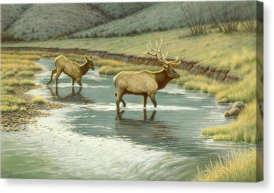 Yellowstone Canvas Print - Crossing The Gardiner by Paul Krapf