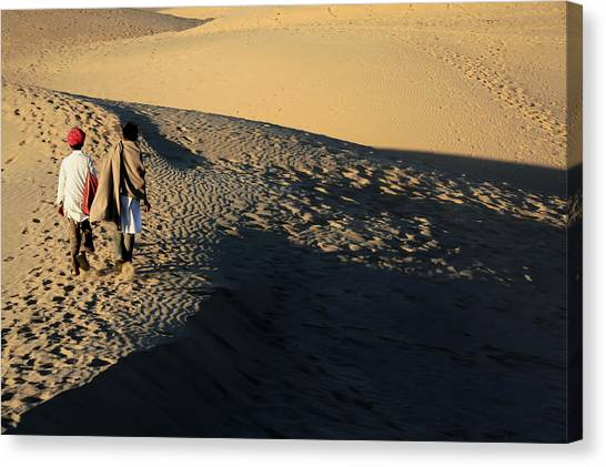 Thar Desert Canvas Print - Crossing The Great Sands by A Rey