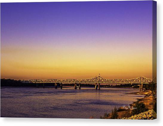 Crossing The Mississippi Canvas Print by Barry Jones